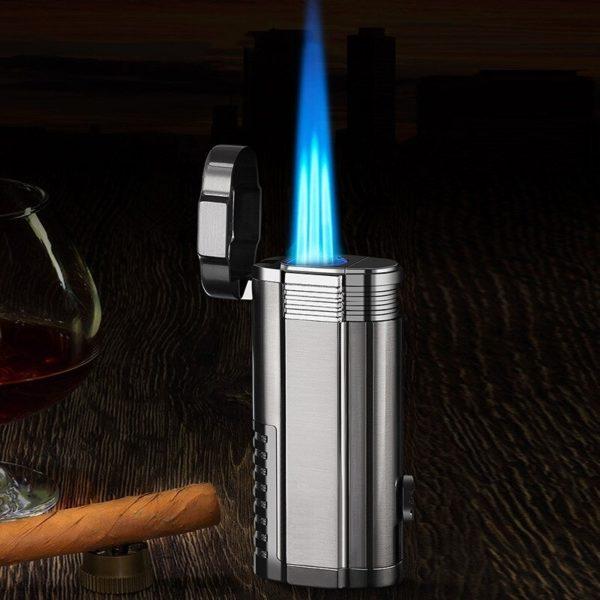 Trois Torches et Coupe-Cigare Intégré Cigare