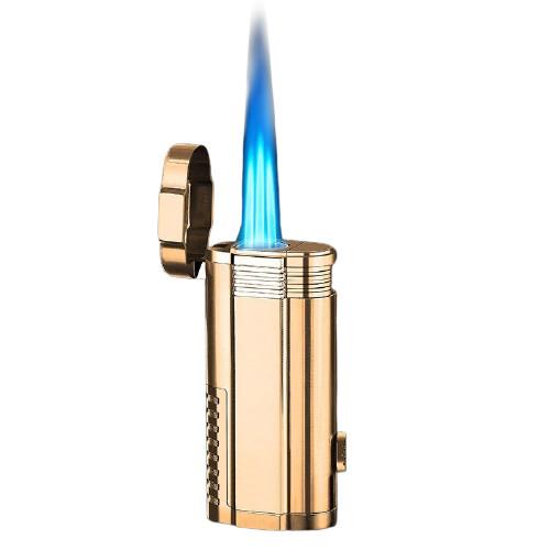 Trois Torches et Coupe Cigare Intégré Doré