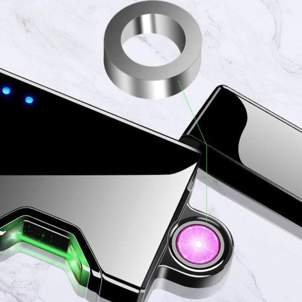 Briquet Électrique USB à Infrarouge capteur infrarouge anneau