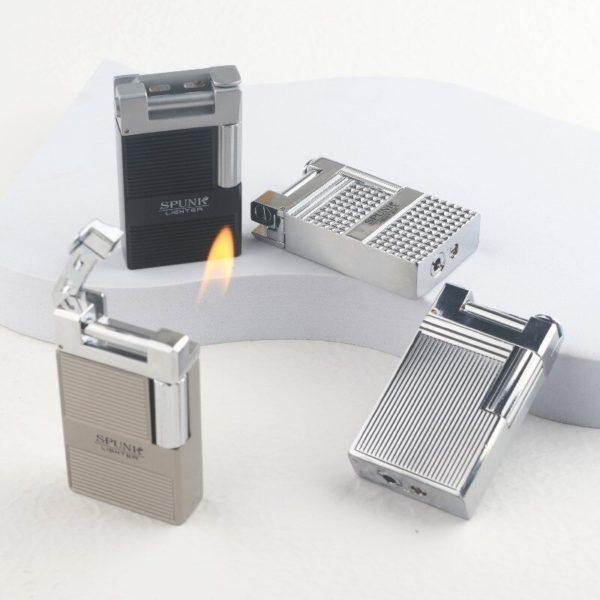 briquet à gaz flamme oblique gravure