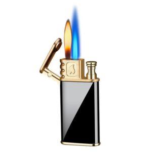 Briquet à Gaz Métallique avec Double Flamme Magique