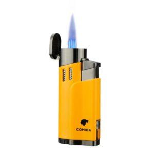 Briquet COHIBA Métallique avec Coupe-Cigare Intégré