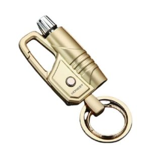 Briquet Essence avec Porte-clé et Lampe Led