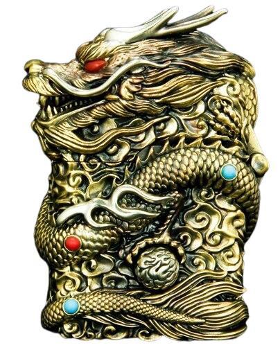 Briquet Essence Griffe de Dragon en Bronze