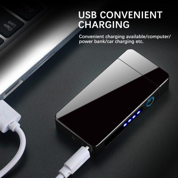 Briquet électrique a double arc USB