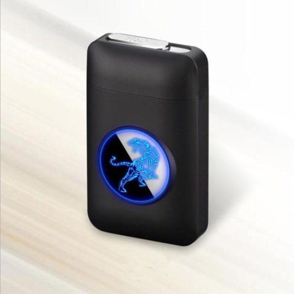 Étui à cigarettes et briquet USB