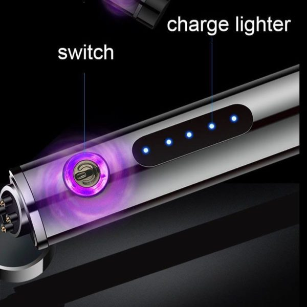 Briquet Électrique USB à Double Arcs