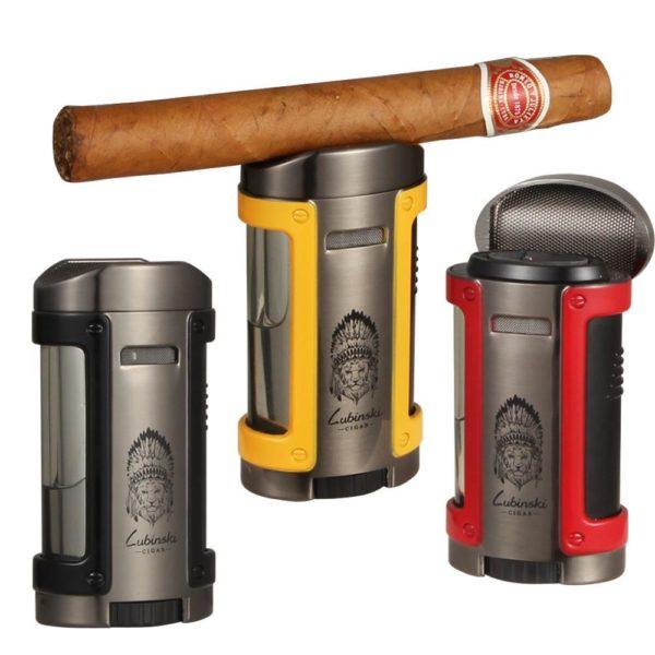 Briquet pour Cigare 4 Jets avect Étui Ceinture