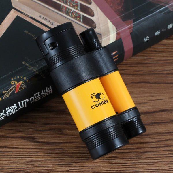 Briquet COHIBA 3 Torches Avec Coupe-Cigare