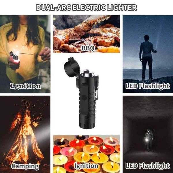 Lampe de Poche Électrique Multifonctionnelle Allume-Cigarette