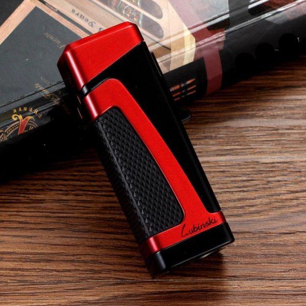 Briquet 3 Jets pour Cigare avec Accessoires