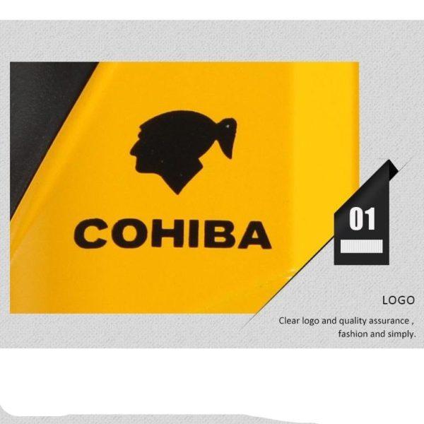 Briquet à Cigare COHIBA 4 Jets avec Coupe-Cigare