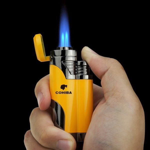 Briquet COHIBA pour Cigare Avec Flamme 2 Jets
