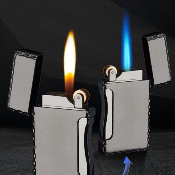Briquet Tempête en Métal à Deux Flammes