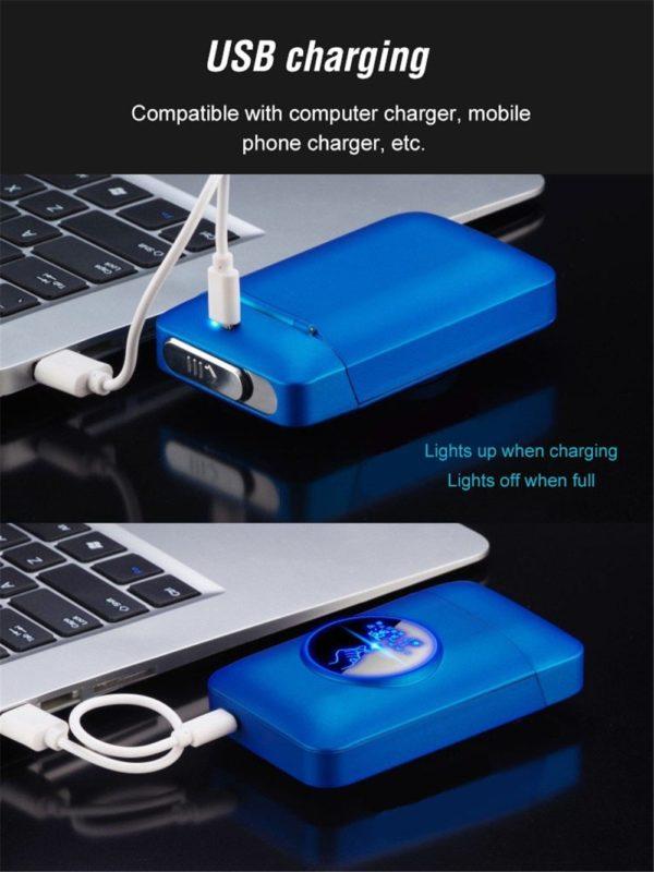 Briquet Électrique USB et Boîte pour Cigarettes
