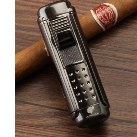 Briquet COHIBA 4 Jets et Coupe-Cigare