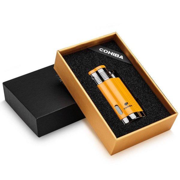 Briquet Torche 3 Flammes Jet et Couope- Cigare