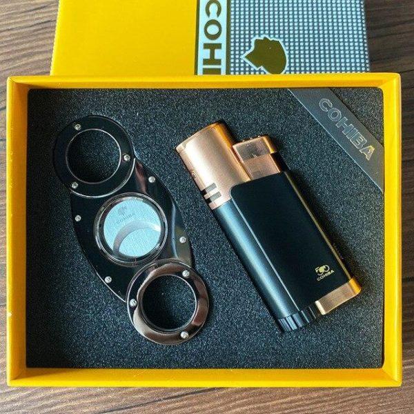Coffret avec Briquet et Coupe-Cigare