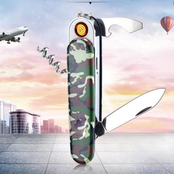 Briquet Couteau Pliant Multifonction USB
