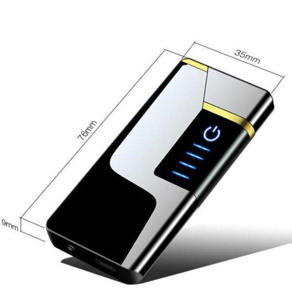 Briquet USB Rechargeable Tactile à Double Arc