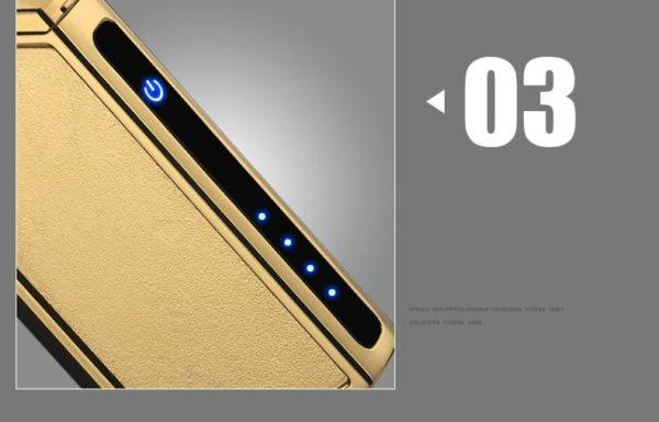 Briquet USB Plasma de Luxe Écran Tactile