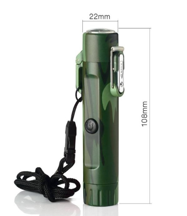 Briquet Explorer USB Étanche avec Arc Électrique