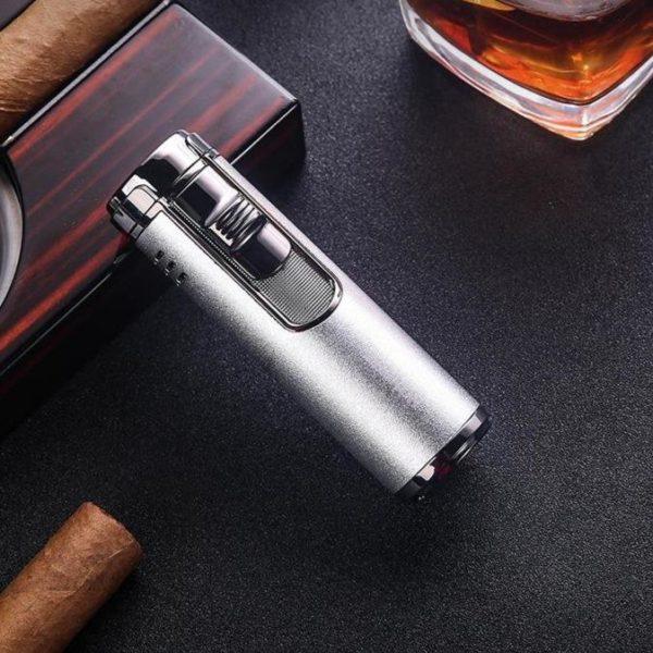 Briquet à Cigare Quatre Buses Torche et Coupe-Cigare