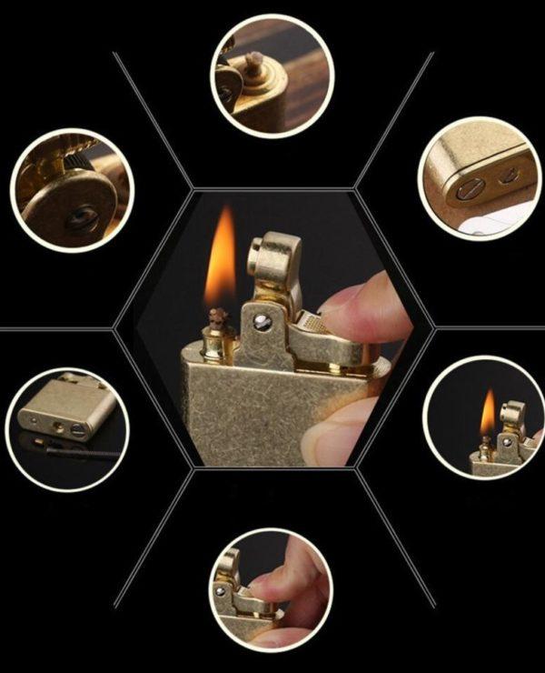 Briquet Essence Vintage en Cuivre