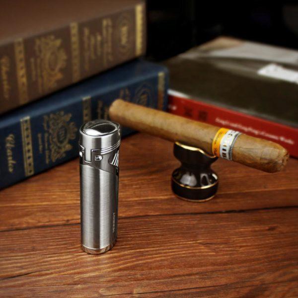 Briquet HONEST 4 Jets et Poinçon à Cigare