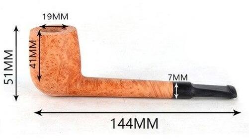 Pipe à Tabac avec Bol Inachevé en Bois