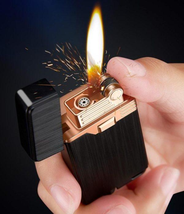 Briquet à Gaz Double Flamme