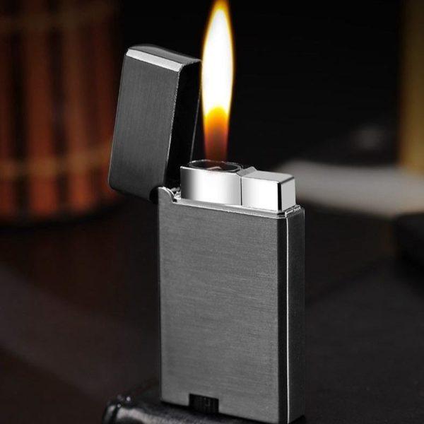 Briquets Tempête en Métal avec Double Flamme au Butane