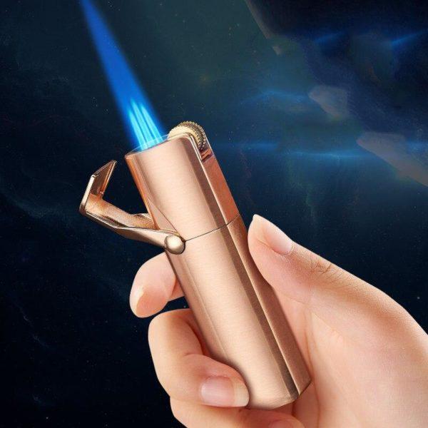 Briquet Tempête Trois Torches et Coupe-Cigare Intégré