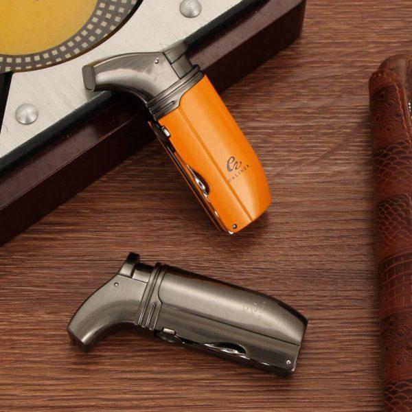 Mini Briquet Cigare de Poche GALINER Flamme 2 Jets