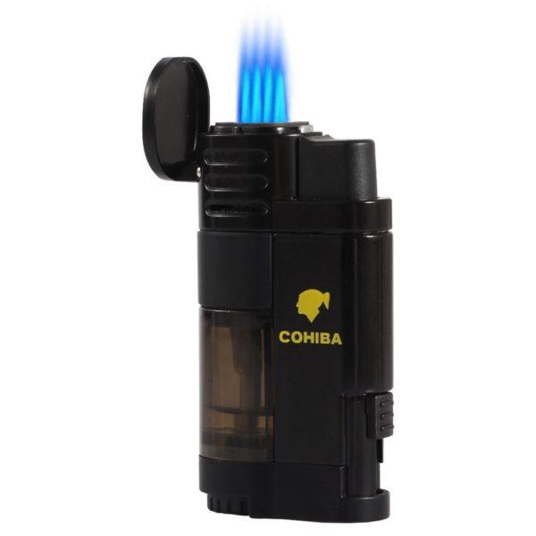 Briquet Torche COHIBA 4 Jets avec Coupe-Cigare
