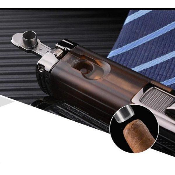 Briquet Cigare Jobon Turbo Torche à 4 Jets