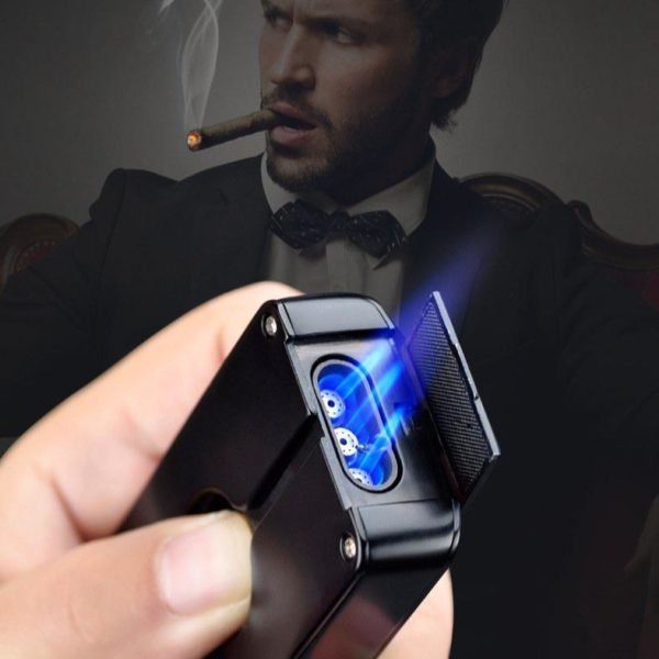 Briquet Cigare à Triple Jets Torcheet Coupe-Cigare