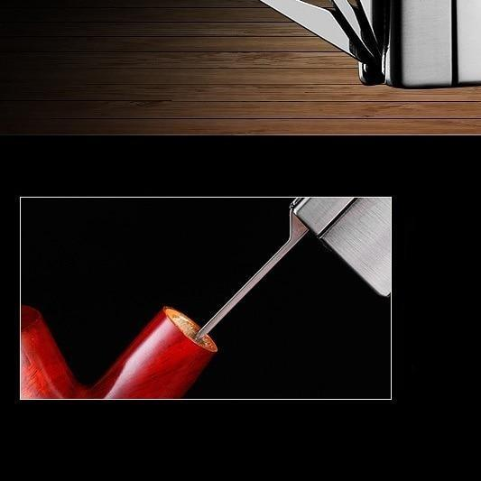 Briquet pour Pipe avec Outils en Acier Inoxydable