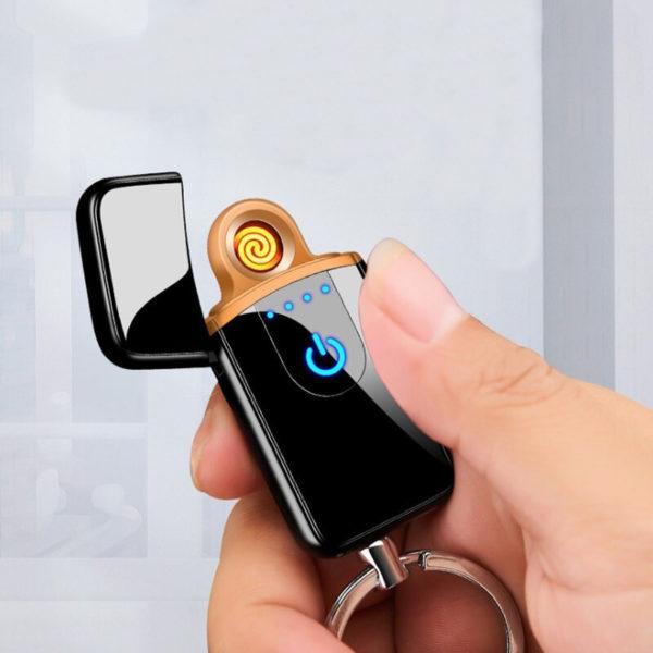 Porte-clés briquet électrique tactile