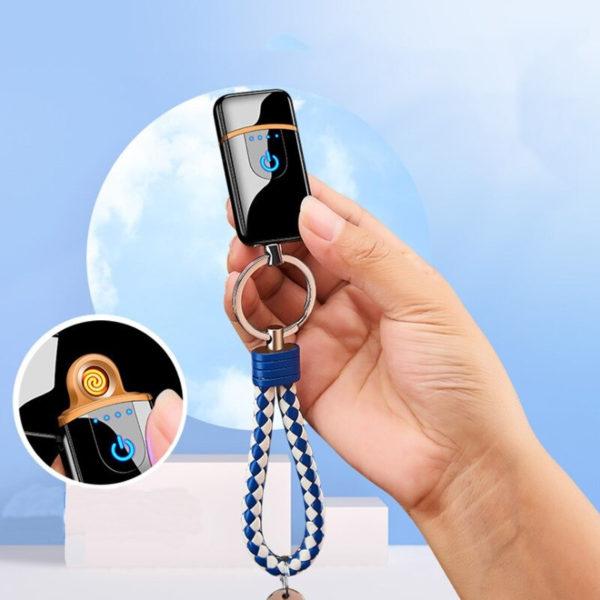 Porte-clés briquet électrique fil