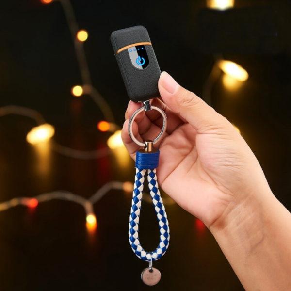 Porte-clés briquet électrique clé