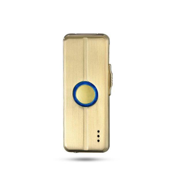 Briquet Électrique USB Musical Doré