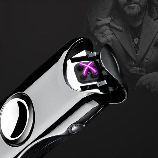 Briquet USB Hand Spinner Ouvert