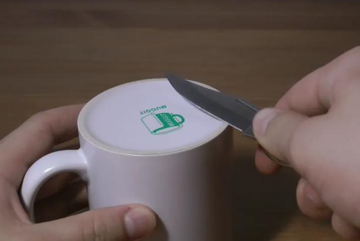 aiguiser couteau mug
