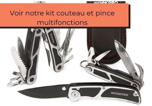 voir kit couteau et pince multi fonctions