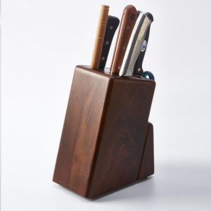 Bloc porte-couteaux bois massif