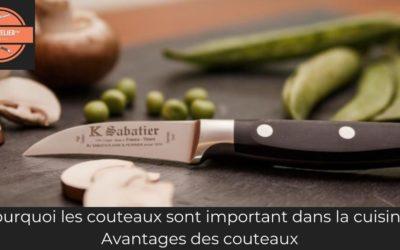 Pourquoi les couteaux sont important dans la cuisine : Avantages des couteaux