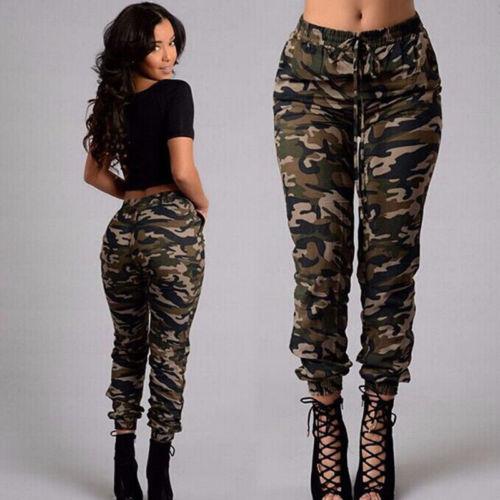 Pantalon Camouflage Streetwear pour Femme