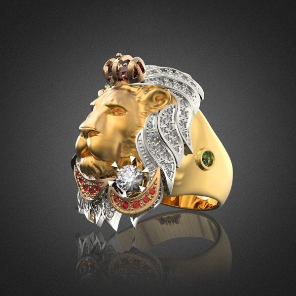 Bague King Lion Luxury