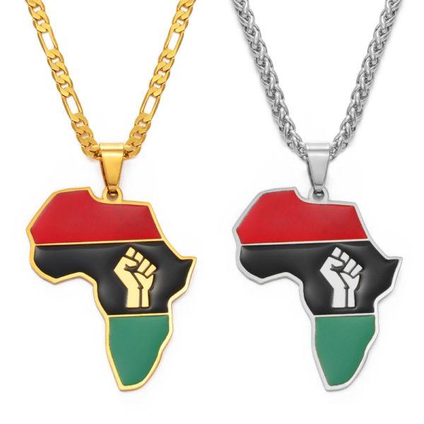 Pendentif Carte de l'Afrique